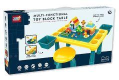 Стол для игры с конструктором Pituso, 48,4х30,2х27,2см, табурет, конструктор, 300 деталей