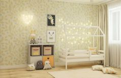 Кровать-домик RooRoom с одним ограничителем, спальное место 160х80см, белая