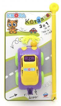 Каталка-машинка KNOPA 3в1: тяни, толкай, играй, 22см