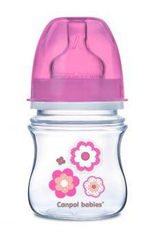 Антиколиковая бутылочка Canpol babies, соска медленный поток, с широким горлышком, 120мл