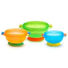 Набор детских тарелок Munchkin на присосках, 3шт.