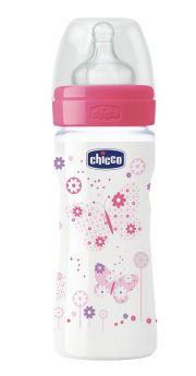 Бутылочка Chicco WellBeing, соска силикон переменный поток, 250мл