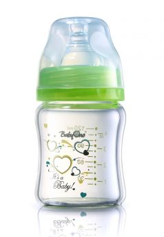 Бутылочка с широким горлышком BabyOno стеклянная, 120мл