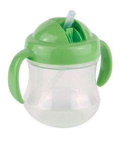 Чашка-поильник Pigeon Mag Mag с трубочкой, зеленая, 200мл