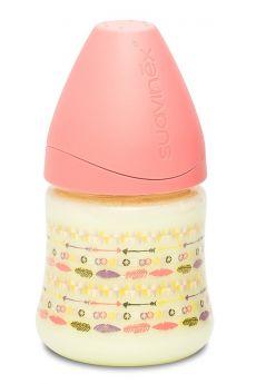Бутылочка Suavinex классическая силиконовая соска переменный поток, 150мл, 0+