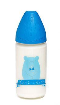 Бутылочка Suavinex Meaningful Life классическая силиконовая соска переменный поток, 240мл, 0+