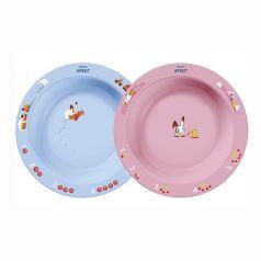 Глубокая тарелка Philips AVENT SCF704/01, розовая/голубая, 450мл