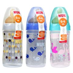 Бутылочка NUK First Choice New Classic с силиконовой соской, 150мл (в ассорт.)