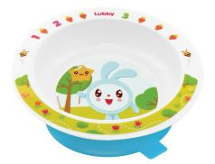"Тарелка на присоске Lubby ""Малышарики"", голубая, 400мл"