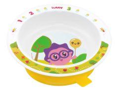 """Тарелка на присоске Lubby """"Малышарики"""", желтая, 400мл"""