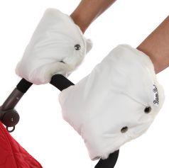 Муфта-варежки Bambola лайт, белая