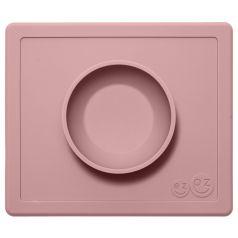 Тарелка-плейсмат Ezpz Happy Bowl Blush, силиконовая