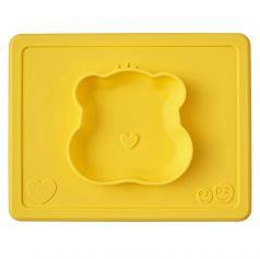 Тарелка-плейсмат Ezpz Happy Bowl Care Bear Edition Teal, силиконовая