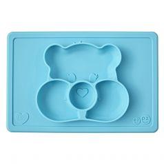 Тарелка-плейсмат Ezpz Happy Mat Care Bear Edition Tea, силиконовая, бирюзовая