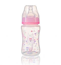 Бутылочка BabyOno антиколиковая, c широким горлышком, 240мл