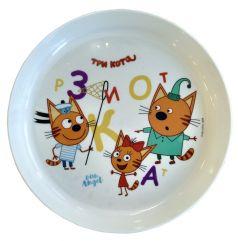 """Детская тарелка Little Angel """"Три кота"""", 450мл"""