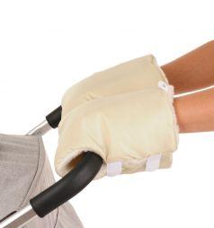Муфты-варежки Bambola на липучках с шерстяным мехом и плащевкой (цвета в ассорт.)